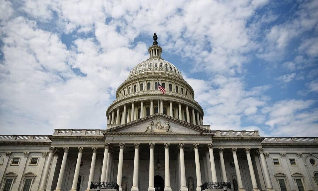 O Congresso dos EUA: mirando as gigantes tech. Foto: MANDEL NGAN / AFP