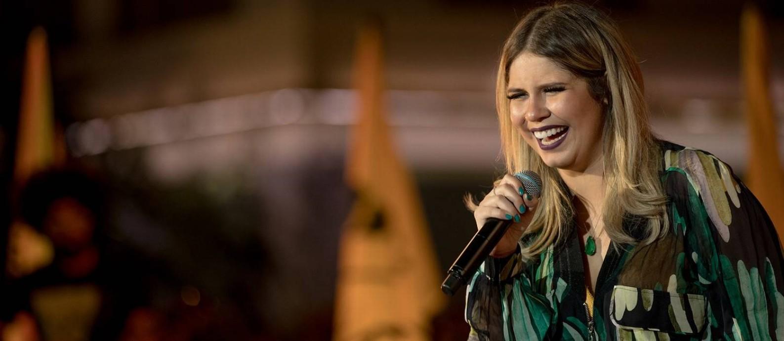 """A cantora Marilia Mendonça no especial de TV """"Todos os Cantos"""" Foto: Flaney Gonzallez / Divulgação"""