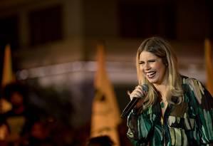 A cantora Marilia Mendonça no especial de TV