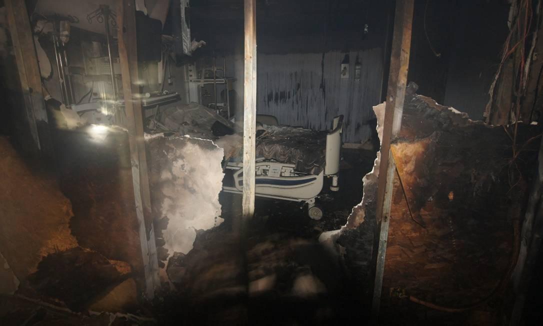 O incêndio no Hospital Badim, ocorrido na noite de quinta-feira (12), causou a morte de 11 pessoas Foto: Fotos cedidas pela TV Globo