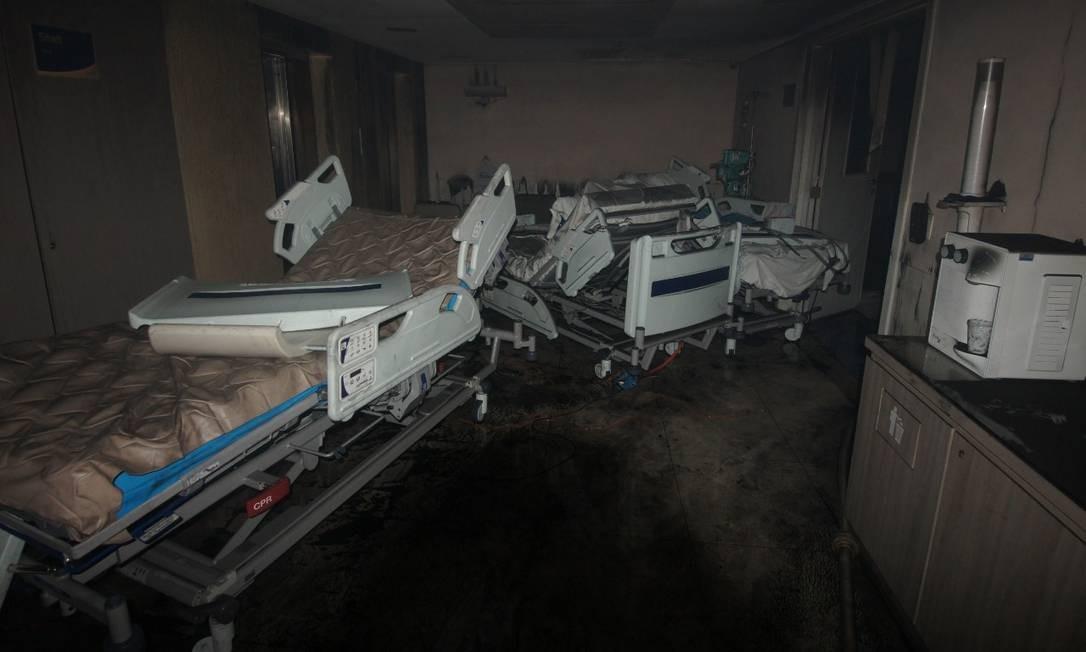 Todos os mortos estavam no CTI e a maioria faleceu após inalar fumaça tóxica Foto: Fotos cedidas pela TV Globo