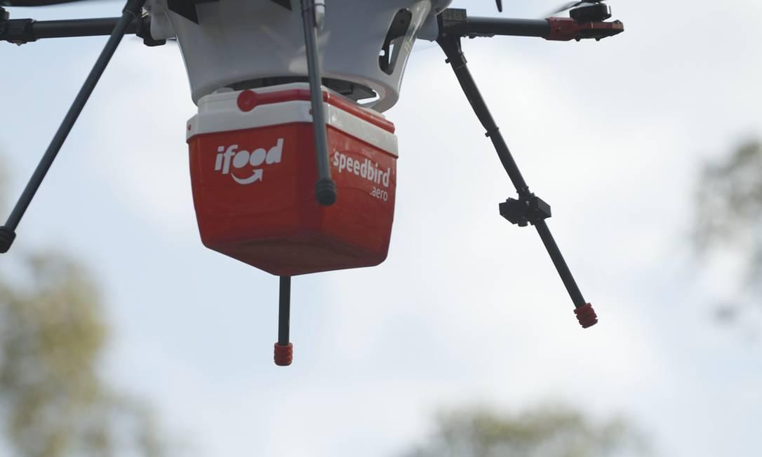 2019.Teste de drone de entrega da ifood. Foto: Divulgação Foto: Terceiro / Agência O Globo