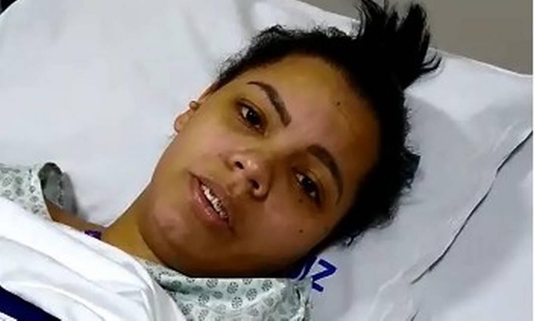 Gigiane dos Santos gravou vídeo e disse que não gosta de relembrar os momentos da tragédia Foto: Reprodução