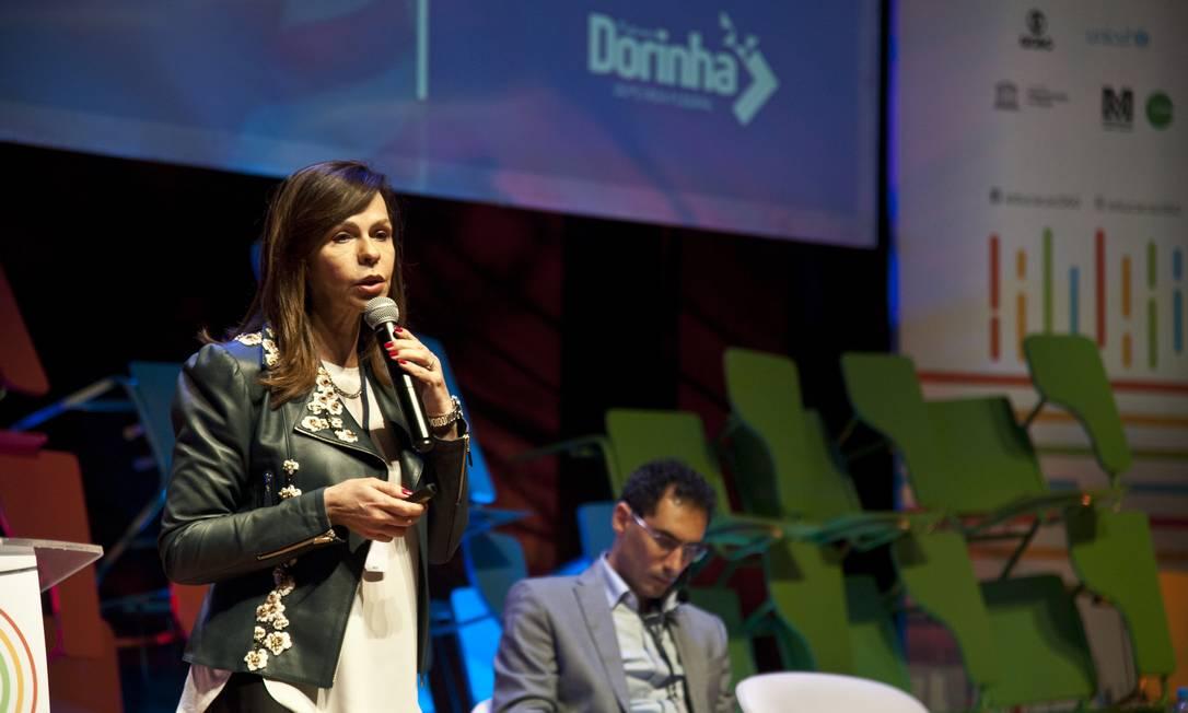A deputada federal Professora Dorinha durante apresentação no Educação 360 Foto: Adriana Lorete / Agência O Globo