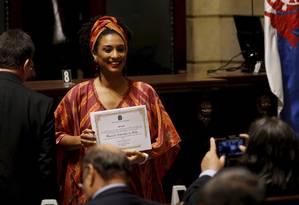 Data da morte de Marielle Franco agora será também o Dia Estadual das Defensoras e Defensores dos Direitos Humanos Foto: Gabriel de Paiva / Agência O GLOBO