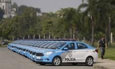 Carros da Polícia Militar do Rio 26/04/2018 Foto: Gabriel de Paiva / Agência O Globo