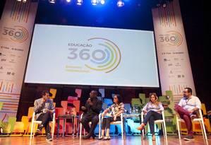 Painel Educação em tempo de conflito debateu a violência na escola no Educação 360 Foto: Adriana Lorete / Agência O Globo