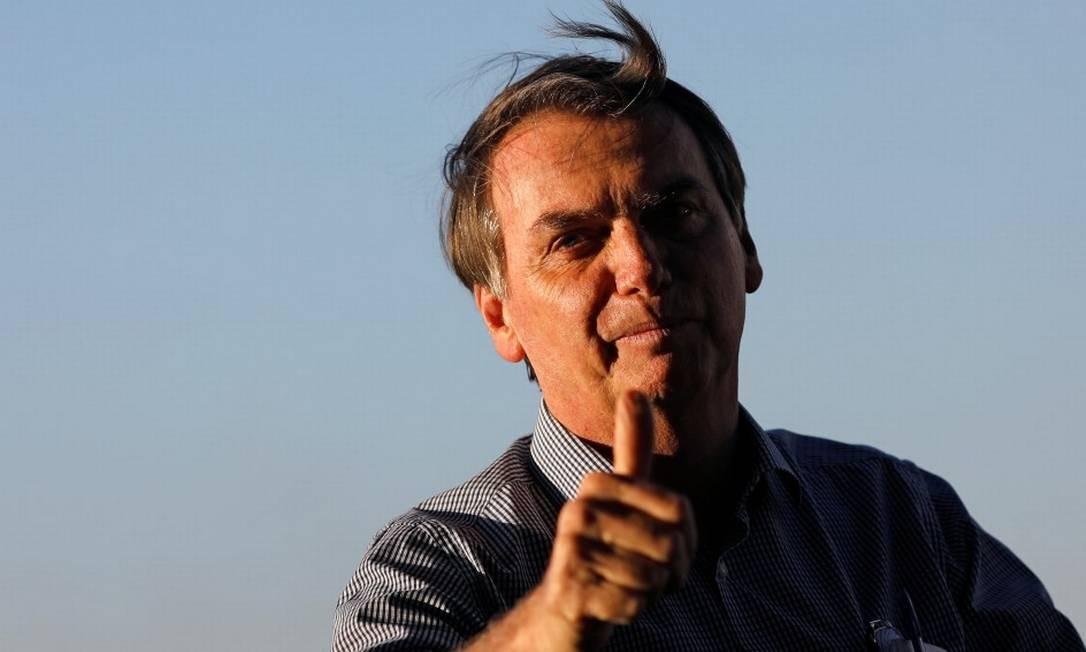 O presidente Jair Bolsonaro na chegada ao Palácio da Alvorada Foto: Adriano Machado / Reuters