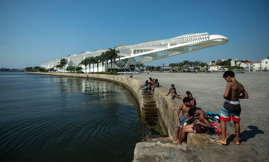 De acordo com o levantamento feito pela prefeitura do Rio, o índice de gratuidade teria de baixar para 30% para que a operação do museu se torne viável Foto: Brenno Carvalho / Agência O Globo