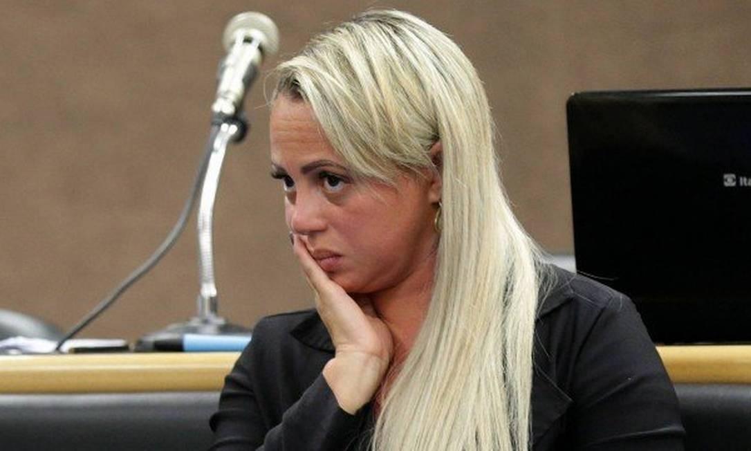 A viúva, no dia em que foi julgada Foto: Fabiano Rocha / Agência O Globo