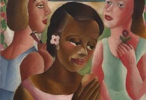 Galeria Almeida & Dale - Artista Emiliano di Cavalcanti - Três Mulatas (Moças do Interior) (Oleo sobre tela 60x50x5cm 1922) Foto: Divulgação/Sergio Guerrini