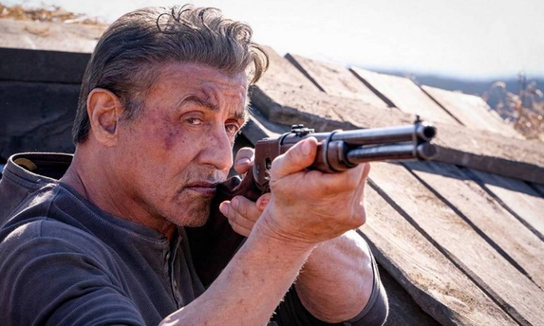 """RS - Sylvester Stallone em cena do filme """"Rambo - Até o fim"""" Foto: Divulgação"""