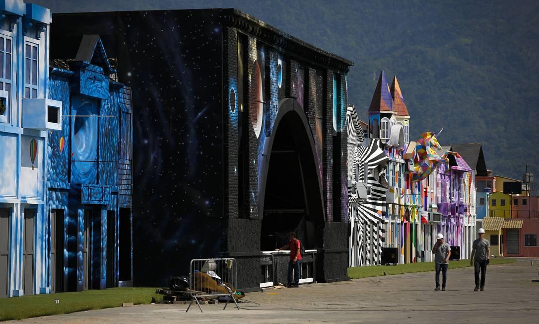 Espaço Rock Street, que nesta edição receberá os encantos, cultura e ares do maior continente do mundo: a Ásia Foto: Pablo Jacob / Agência O Globo