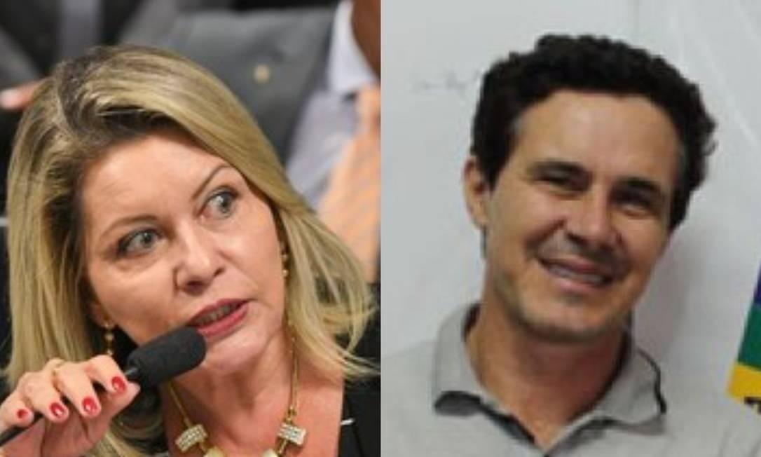A senador Selma Arruda e seu suplete, Gilberto Possamai Foto: Repodução