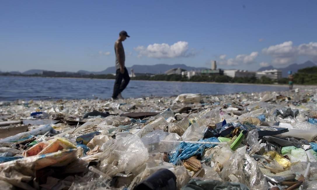 Lixo na Baía de Guanabara Foto: Márcia Foletto