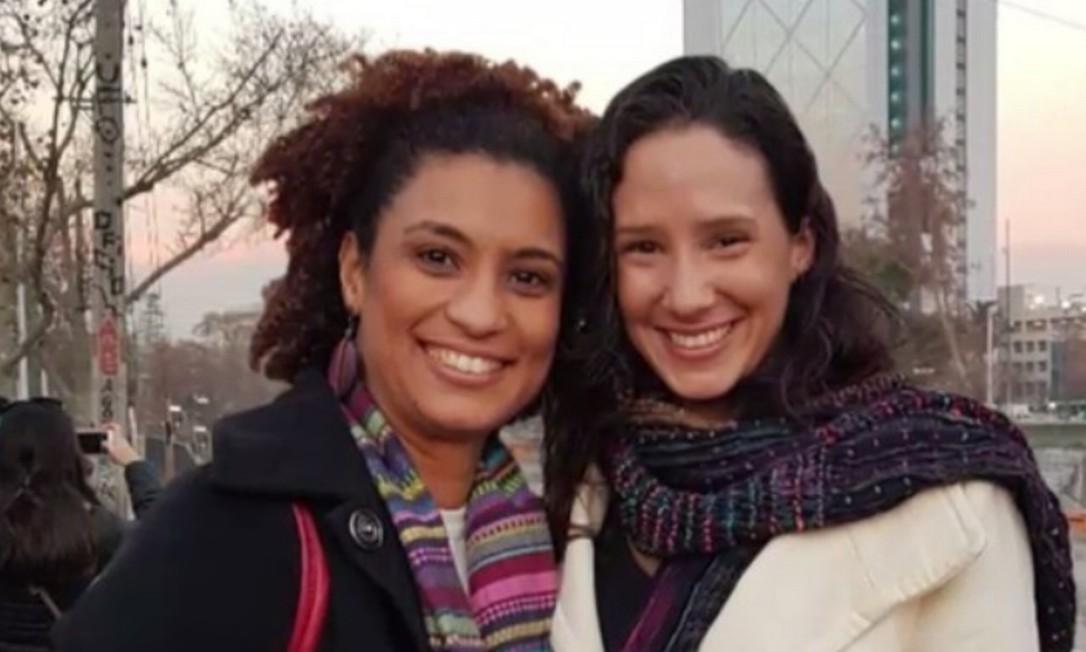 Marielle e Mônica, em foto de arquivo. Viúva da parlamentar acredita que federalização do caso pode atrasar resolução do caso Foto: Reprodução
