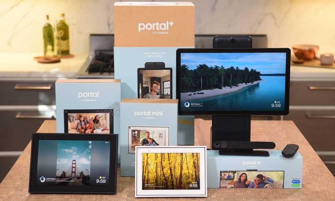 Facebook aposta em nova linha de hardware, incluindo o Portal TV para streaming de vídeos e videochamadas Foto: JOSH EDELSON / AFP