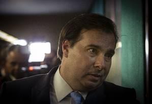 O presidente da Camara, Rodrigo Maia 18/09/2019 Foto: Daniel Marenco / Agência O Globo