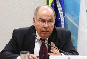 Mauro Vieira, então chanceler do governo Dilma Rousseff, em audiência na Comissão de Relações Exteriores do Senado, em 2015 Foto: Aílton de Freitas / .