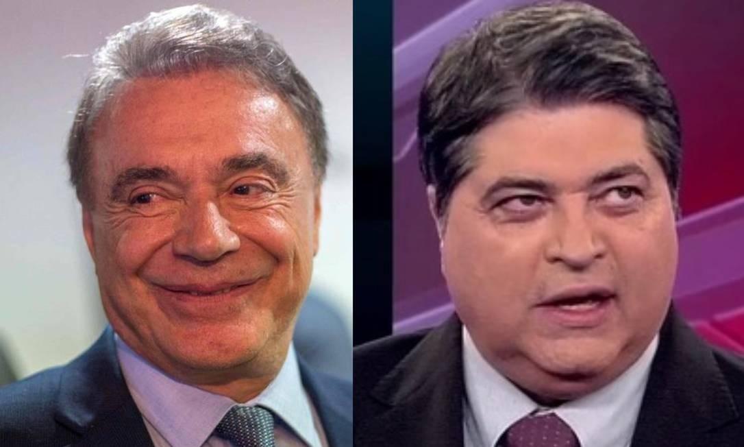 Alvaro Dias e Datena Foto: Daniel Ramalho / AFP e Reprodução