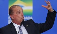 Na foto o ministro da Casa Civil, Onyx Lorenzoni Foto: Jorge William / Agência O Globo