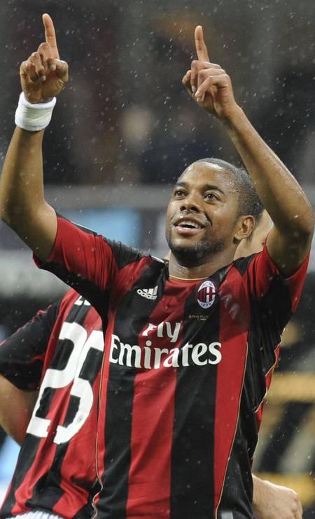 Em 2011, Robinho foi campeão italiano jogando pelo Milan Foto: STRINGER/ITALY / Reuters