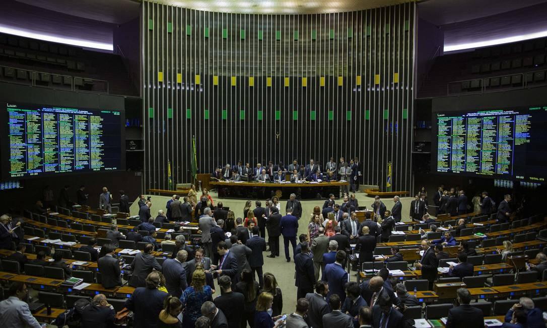 Plenário da Câmara irá analisar o pacote anticrime após passar pelo grupo de trabalho Foto: Daniel Marenco / Agência O Globo