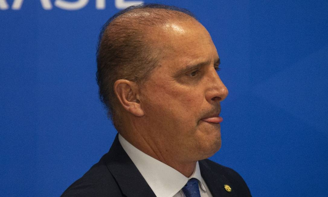 O ministro-chefe da Casa Civil, Onyx Lorenzoni Foto: Daniel Marenco / Agência O Globo