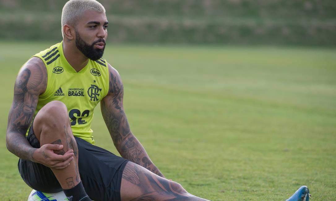 Gabigol em alta no Fla e cotado na seleção Foto: Alexandre Vidal/Flamengo