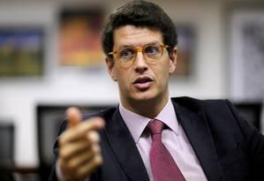 Ministro do Meio Ambiente, Ricardo Salles Foto: ADRIANO MACHADO / REUTERS