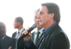 O presidente Jair Bolsonaro em cerimônia no Palácio da Alvorada Foto: Marcos Corrêa/PR