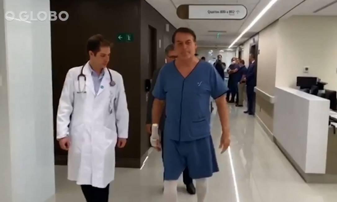 Bolsonaro passou por nova cirurgia, agora de correção de hérnia Foto: Reprodução