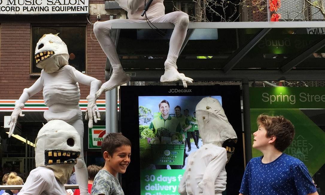 O protesto contra as mudanças climáticas em Melbourne, na Austrália Foto: Melanie Burton / REUTERS