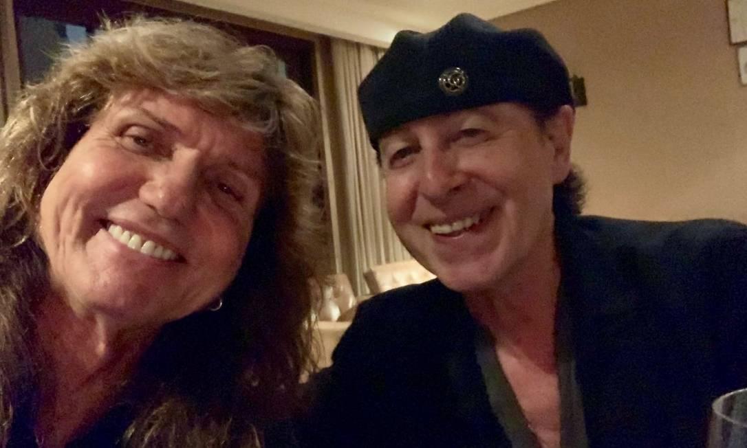 David Coverdale e Klaus Meine, vocalistas do Whitesnake e do Scorpions Foto: Reprodução