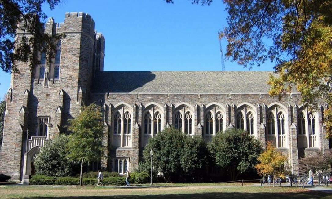 Prédio da biblioteca Perkins, na Universidade Duke, na Carolina do Norte Foto: Divulgação