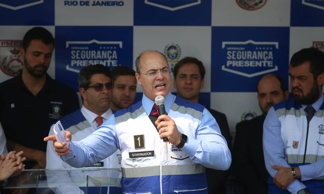 O governador do Rio, Wilson Witzel Foto: Fabiano Rocha / Agência O Globo