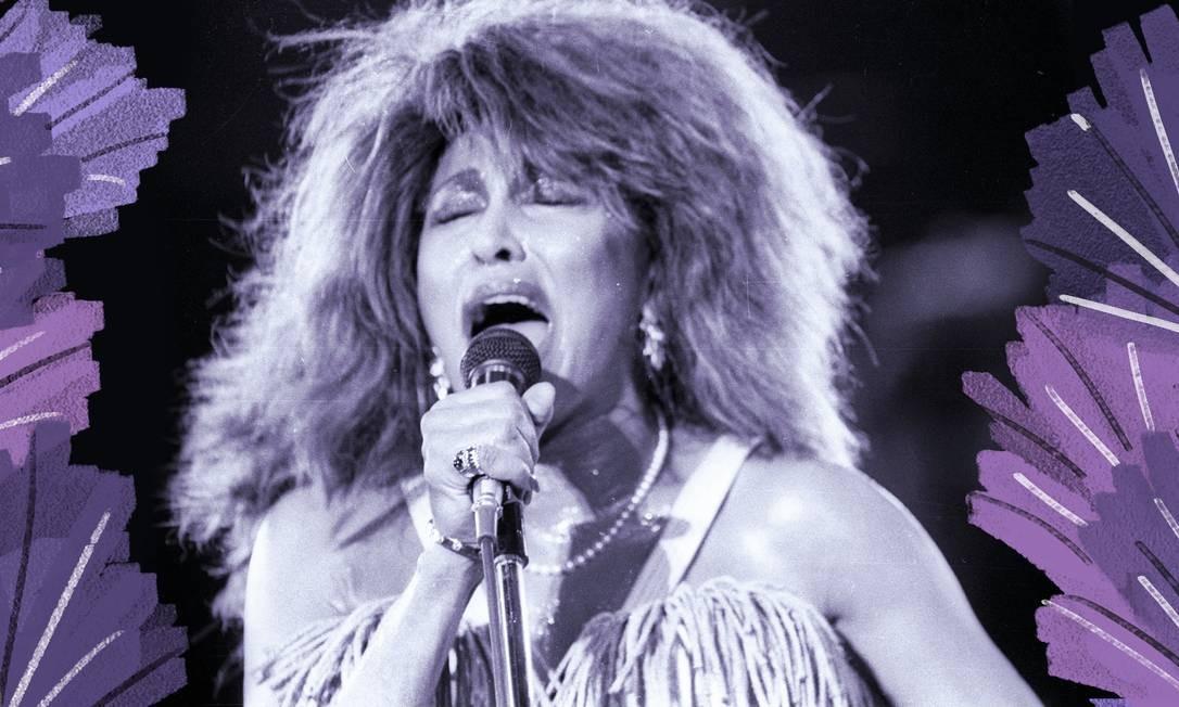 Tina Turner sofreu abusos e violência física do primeiro marido, o músico Ike Turner, de quem se separou em 1976. Foi só nos anos 80 que ela retomou a carreira Foto: Luiz Ávila / Agência O Globo