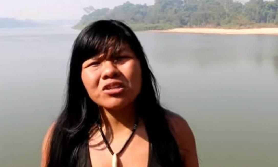 Ysani Kalapalo, indígena do Xingu Foto: Reprodução da internet