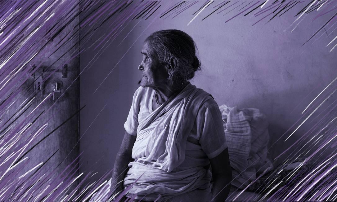 Abandonadas pelas famílias, viúvas indianas encontram apoio em ashram criado pelo governo Foto: NYT