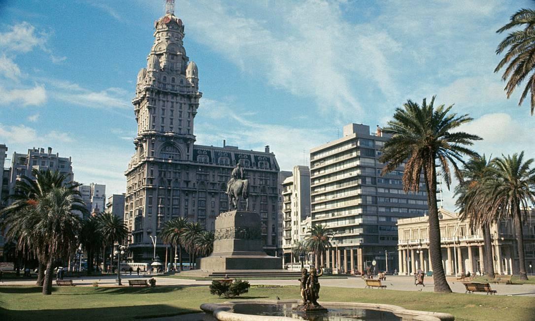Praça da Independência em Montevidéu Foto: Bettmann / Bettmann Archive