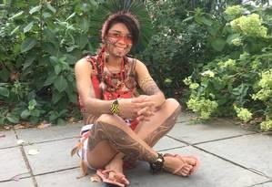 A indígena brasileira Artemisa Xakriabá participa no sábado da Cúpula da Juventude para o Clima da ONU Foto: Divulgação