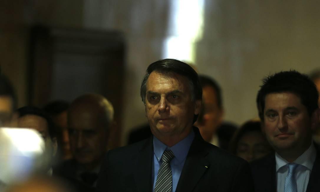 Presidente Jair Bolsonaro confirmou jantar com o presidente dos EUA, Donald Trump, em sua passagem por Nova York para a Assembleia Geral da ONU Foto: Jorge William / Agência O Globo