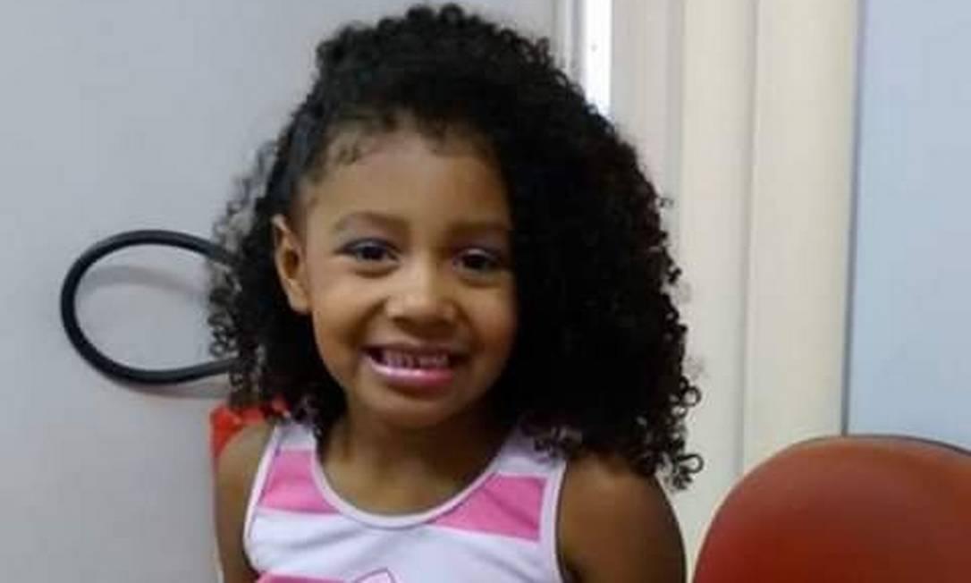Menina Agatha Félix, de 8 anos, foi baleada nas costas Foto: Reprodução das redes sociais