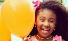 Agatha Félix, de 8 anos, morava no Complexo do Alemão Foto: Reprodução das redes sociais