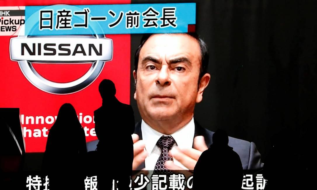 Carlos Ghosn, ex-presidente da Aliança Renault-Nissan Foto: Issei Kato / Reuters