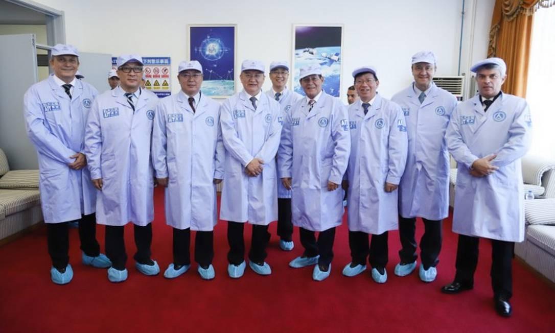 Vice-Presidente da República, Hamilton Mourão, durante visita à Academia Chinesa de Tecnologia Espacial Foto: ADNILTON FARIAS / Agência O Globo / 21-05-2019