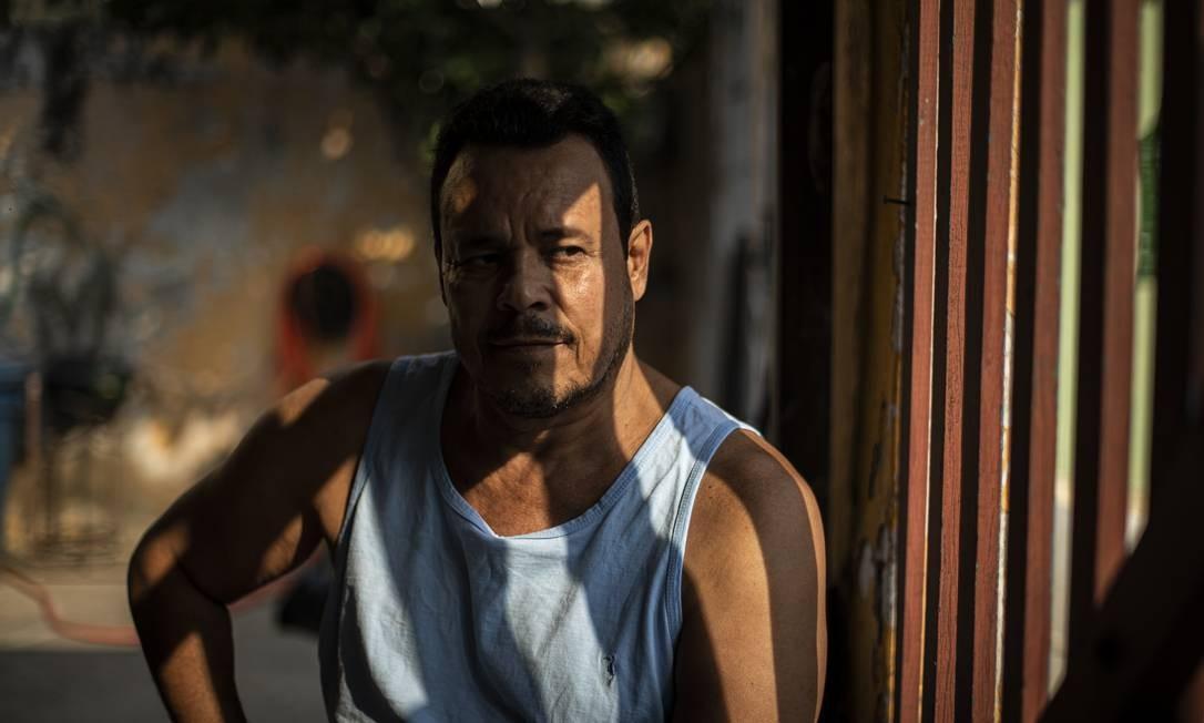 Marcos Antonio de Oliveira trocou a Bahia pelo Rio na esperança de melhorar de vida por meio do setor de petróleo Foto: Hermes de Paula / Agência O Globo