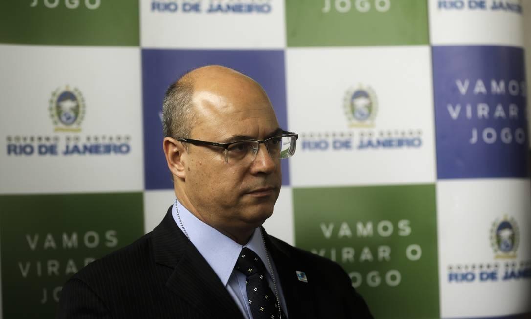 Wilson Witzel ainda não se pronunciou sobre o caso Foto: Gabriel de Paiva / Agência O Globo