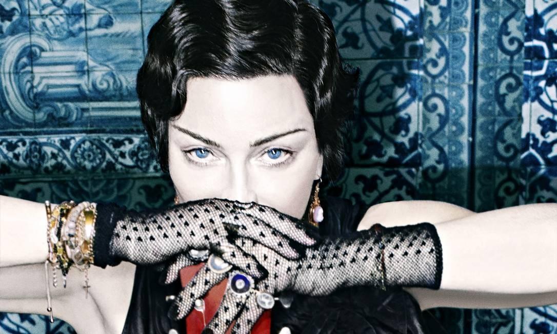 Madonna em foto de divulgação do disco: cantora proibiu fotos e celulares no show Foto: Divulgação