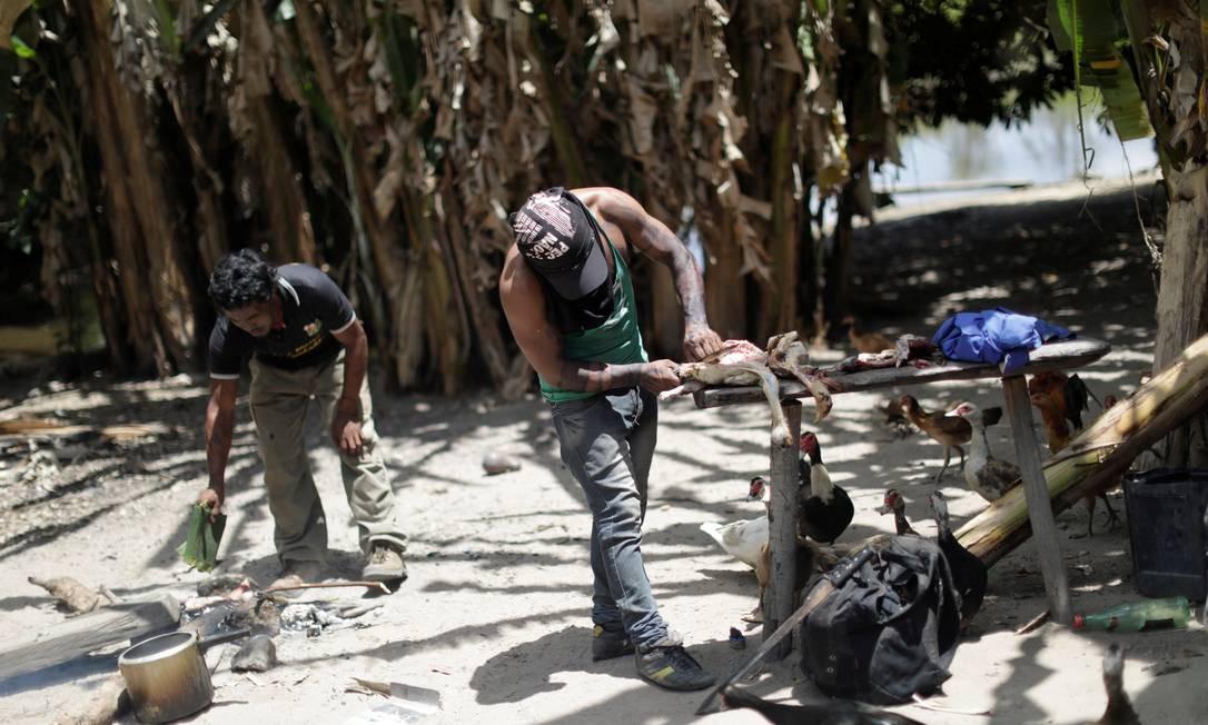 Acampamento ilegal de madeireiros em terra indigena Arariboia Foto: UESLEI MARCELINO / REUTERS